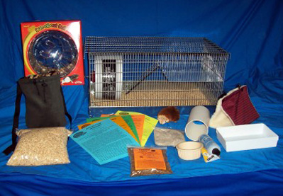 Hedgehog Deluxe Supply Package Cage Set Up