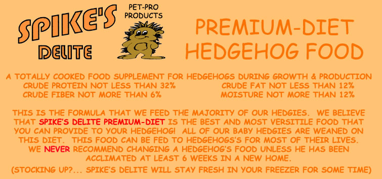 Spike's Delite Premium Diet Hedgehog Food - HEDGEHOGS by Vickie